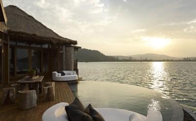 2 bedroom overwater deck at sunset 32122