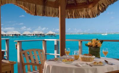 Bora Bora Four Seasons Resort Dining Area