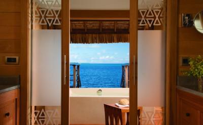 Bora Bora Four Seasons Resort Lagoon view from the Bungalow