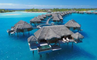 Bora Bora Four Seasons Resort Otemanu Overwater Villa with Pool
