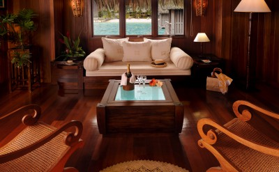 Bora Bora Nui Resort & Spa Overwater Royal Villa living room