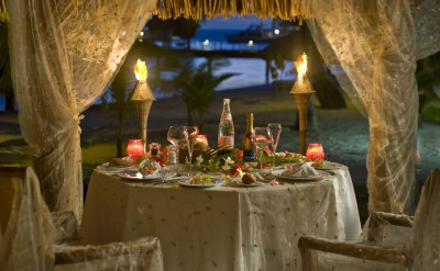 Bora Bora Nui Resort & Spa Romantic Dinner on the Beach