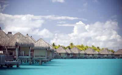 Bunglaows at the St Regis Bora Bora Resort
