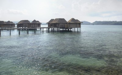 early morning  behind 2 bed over water villas_1407