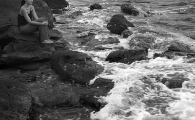meditation on Koh Bong's shore_0204BW