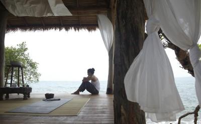 preparing for Yoga in a spa villa sala_0046