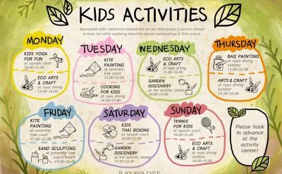 Rayavadee Kids Only Kids Activity Schedule Sample 2015