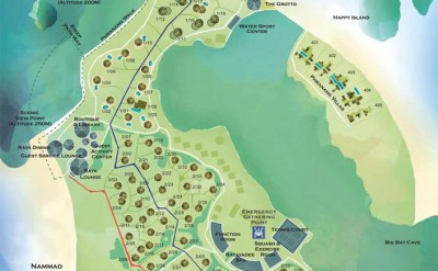 Rayavadee Resort Map 2015