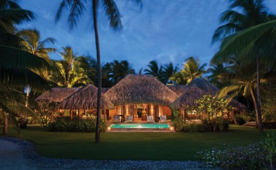 2BD Beach Villa at Night