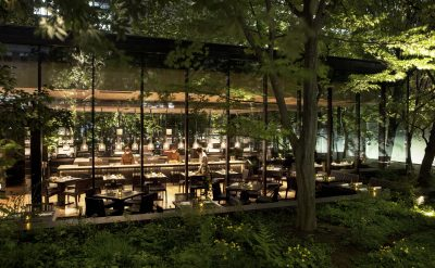 This casual French fare is open for lunch, tea and dinner and is adjacent to the Otemachi forest.